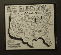 Image of Kal's official color your own election map - Kallaugher, Kevin (Kal), 1955-